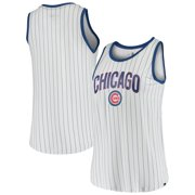 Chicago Cubs New Era Women's Team Pinstripe Jersey Tank Top - White/Royal