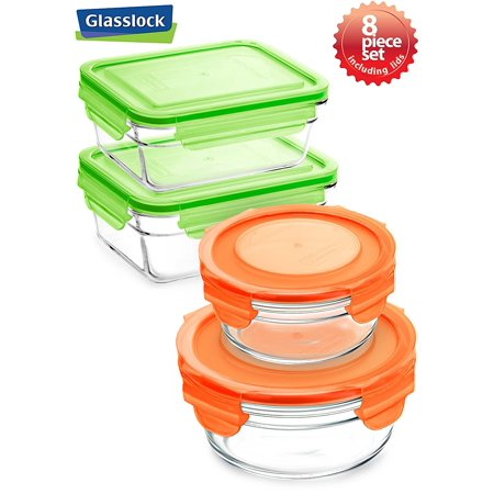 Glasslock Food Storage Container Sets Unique Glasslock 60 Piece Round And Rectangular Oven Safe Food Storage