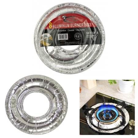 - 40 X Aluminum Burner Bib Foil Round Gas Oven Liners Covers Wholesale 8.75