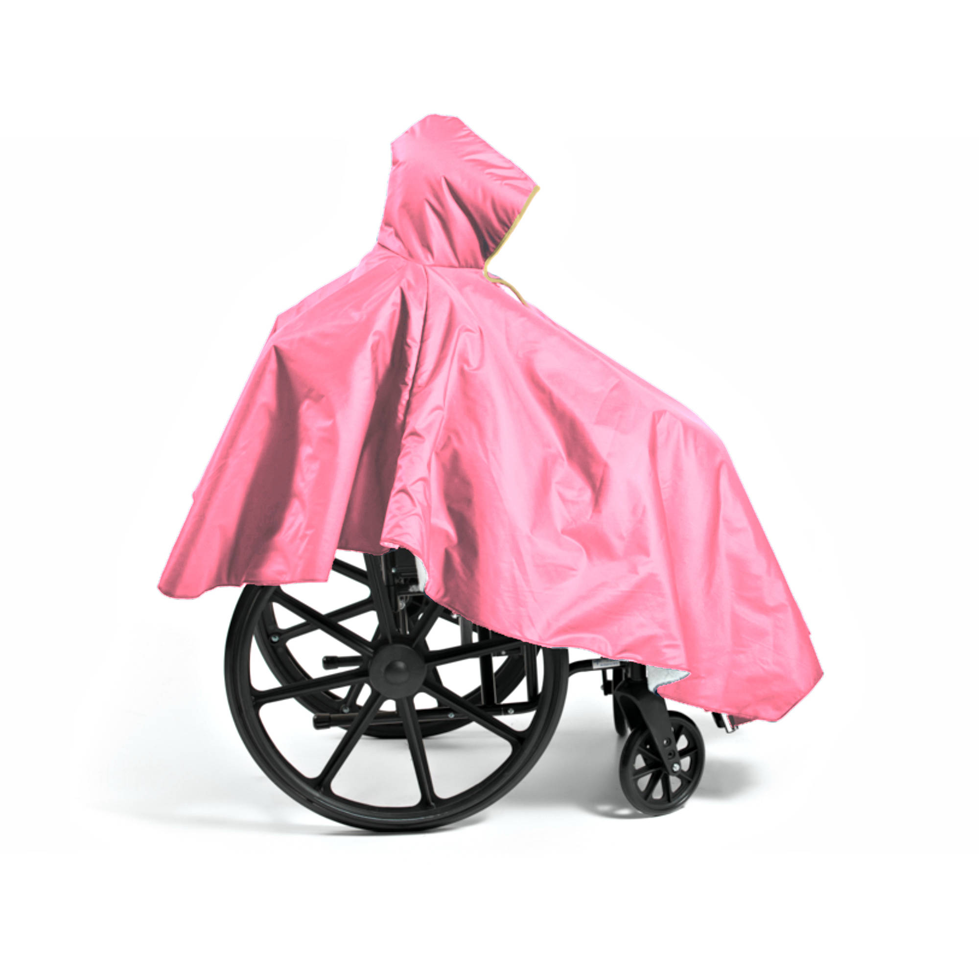CareActive Wheelchair Winter Poncho, Baby Pink