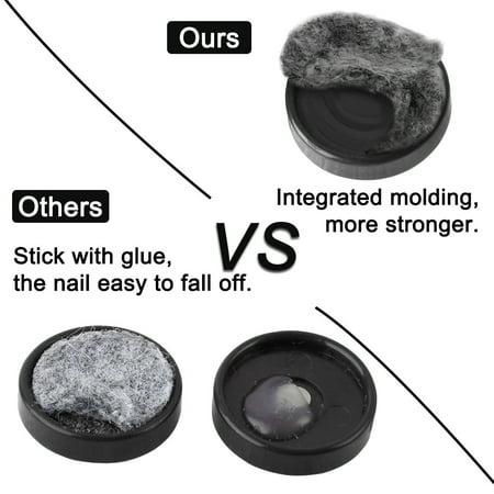 Felt Pad Nails Glides Floor Protector Anti-scratch Furniture Leg 20mm Dia 50pcs - image 3 of 7