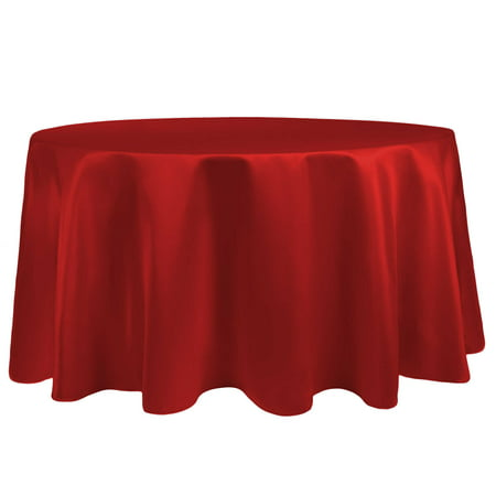 Ultimate Textile Bridal Satin 126-Inch Round Tablecloth