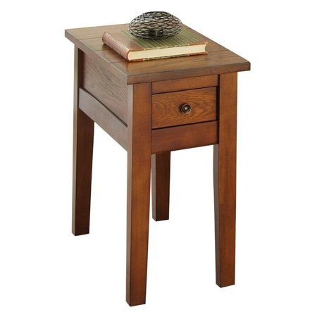 Bowery Hill Chairside End Table in Dark Oak Finish