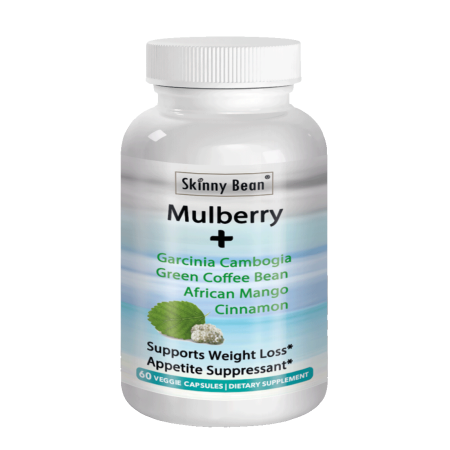 Skinny Bean MAX-White MULBERRY leaf extract + Garcinia Cambogia + Green Coffee Bean + African Mango + (Puregenix Garcinia Cambogia And Green Coffee Bean Supplements)