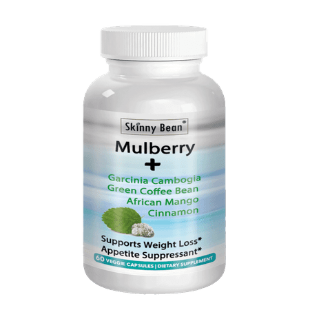 Skinny Bean MAX-White MULBERRY leaf extract + Garcinia Cambogia + Green Coffee Bean + African Mango + (Green Tea Lemon Honey Cinnamon Weight Loss)