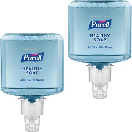 PURELL® ES6 0 5% BAK HEALTHY SOAP Foam - 40 6 fl oz (1200 mL) - Hand - Blue  - Antimicrobial, Moisturizing, Dye-free, Hypoallergenic, Bio-based - 2 /