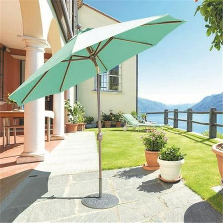Galtech 9 ft. Sand Deluxe Auto Tilt Umbrella - Tuscan Sunbrella