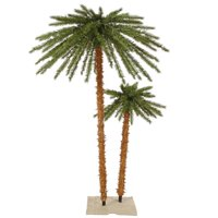 Outdoor Tree Dura-Lit Christmas Palm with Warm White LED Lights - 4 x 6 ft.