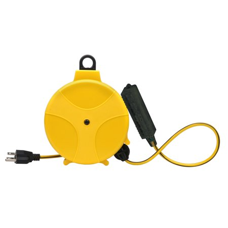 (Designers Edge E315 20' Yellow Retractable Extension Cord Reel)