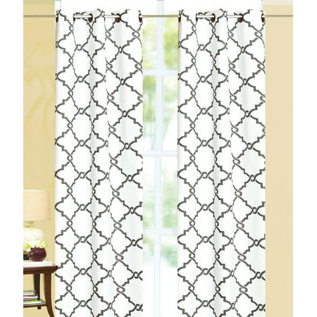 - Geometric Modern Print Insulated 100% Thermal Blackout Window Grommet Curtain Panel - 84