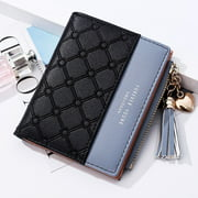 Fashion Women Short Wallets Female PU Leather Wallet Ladies Purse Zipper Clutch Bag Money Card Holder