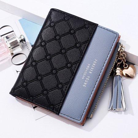 Fashion Women Short Wallets Female PU Leather Wallet Ladies Purse Zipper Clutch Bag Money Card Holder Monkey Card Holder