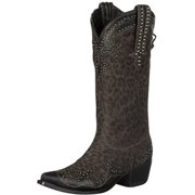 Lane Western Boots Womens Cheetah Chic Studded Gray Cheetah DD9020B