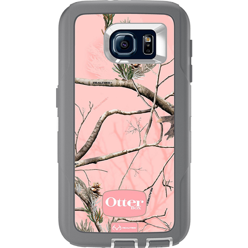 OtterBox Defender Series Case for Samsung Galaxy S6 (AP Pink Camo/Gunmetal Gray)