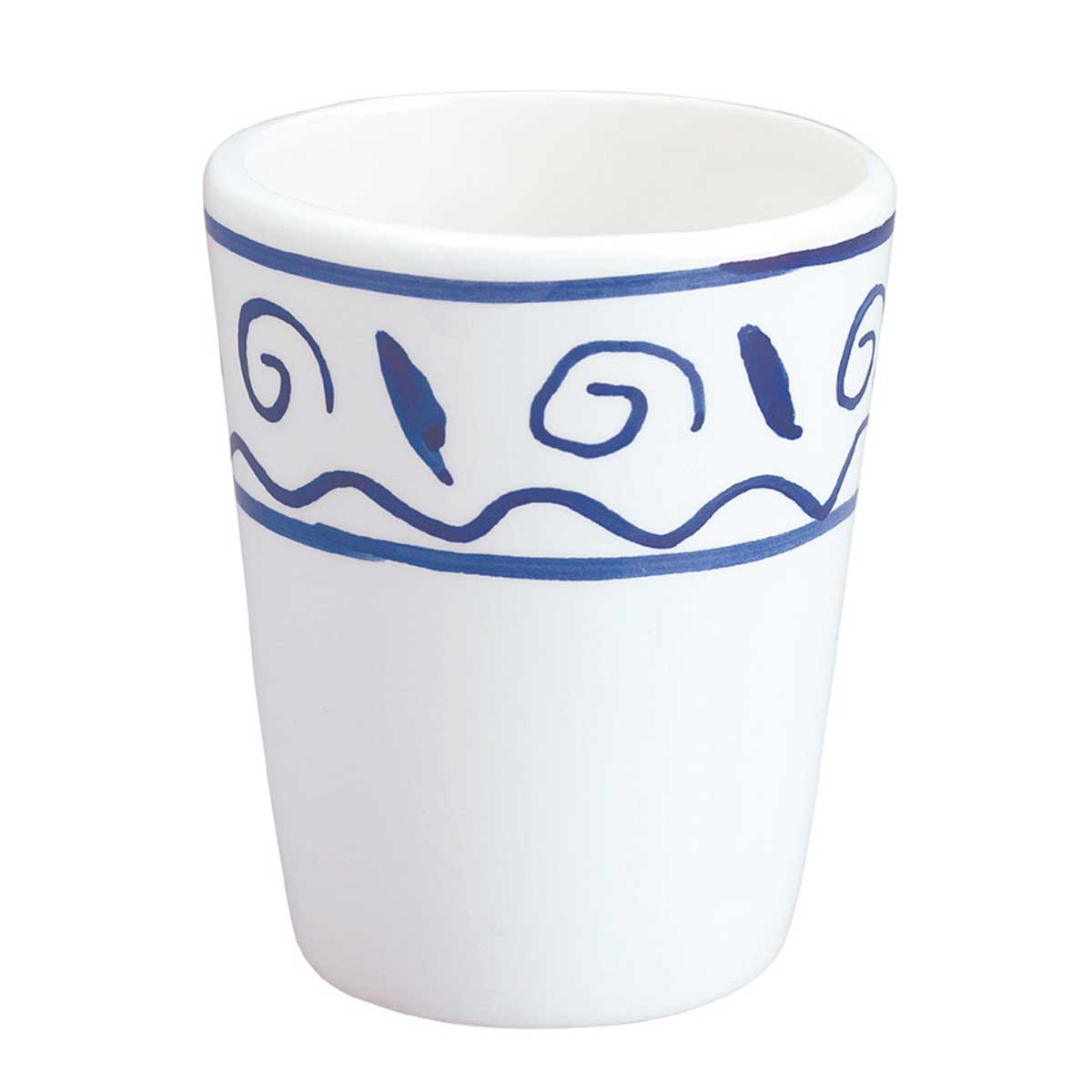 Bathroom Cup Tumbler White & Blue Nepture Ceramic | Renovator's Supply by The Renovator's Supply