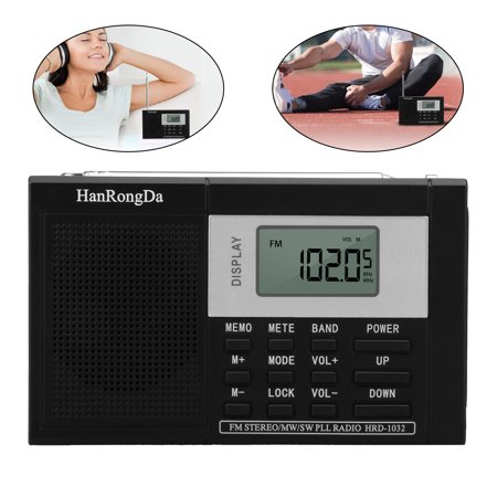 Digital Portable AM/FM/SW Stereo Radio W/ Sleep Timer Bass Sound MP3 Player (Halloween Sounds Internet Radio)