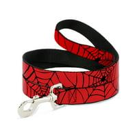 "Buckle-Down ""Spider web Red/Black"" Dog Leash, 6'"