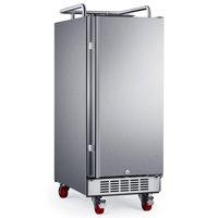 "Edgestar Br1500od 15"" Wide Outdoor Kegerator Conversion Refrigerator - Stainless Steel"