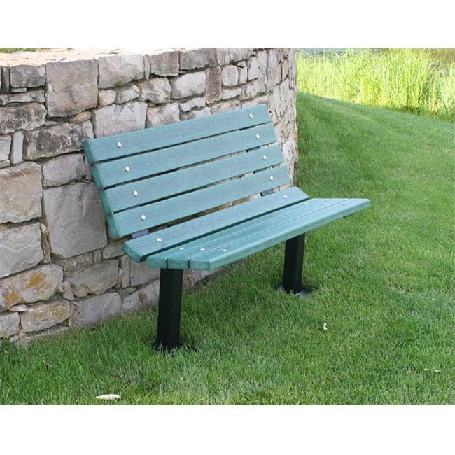 Jayhawk PB 4GREBFCONING Contour In-Ground Bench, Green - 4 ft.