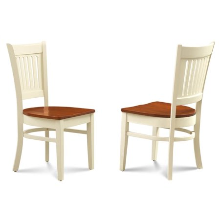 Buttermilk Finish (Side Chair in Buttermilk and Cherry Finish - Set of)