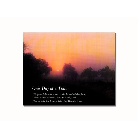 Inspirational Christian Art - One Day at a Time Sunrise Christian Inspirational Wall Picture 8x10 Art Print