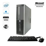 HP Compaq 8000 SFF Desktop Computer Windows 10 Pro Core 2 Duo 8GB 250GB WiFi Free Keyboard Mouse (Refurbished)