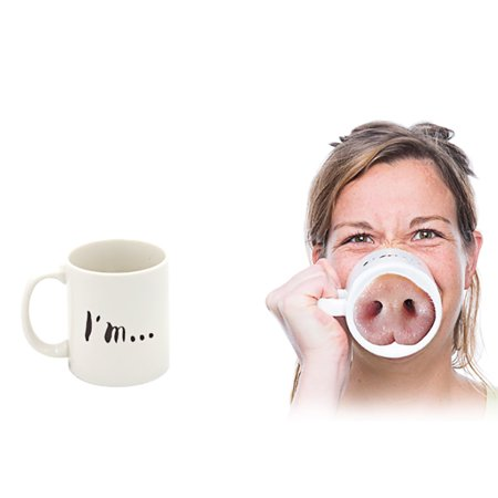 - Funny Miss Piggy Nose Mug Ceramic Coffee Tea Cup Donkey Pink Pig Nose Designed