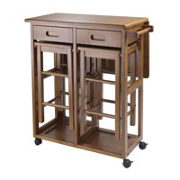 Winsome Wood Suzanne 3-Piece Kitchen Island Set, Multiple Finishes