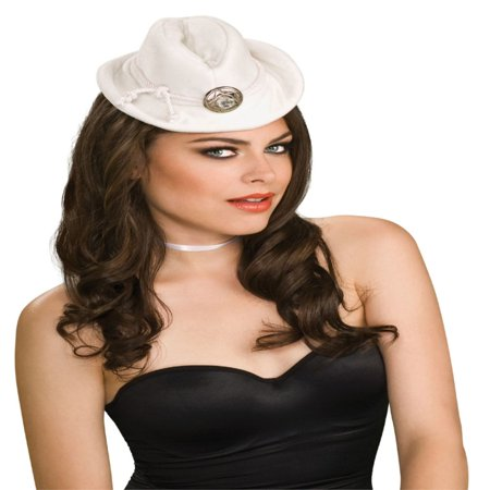 Mini Cowboy Western Girl White Costume Hat