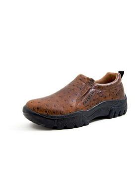 Western Shoes Mens Ostrich Sport Slip On Tan 09-020-0601-0371 TA