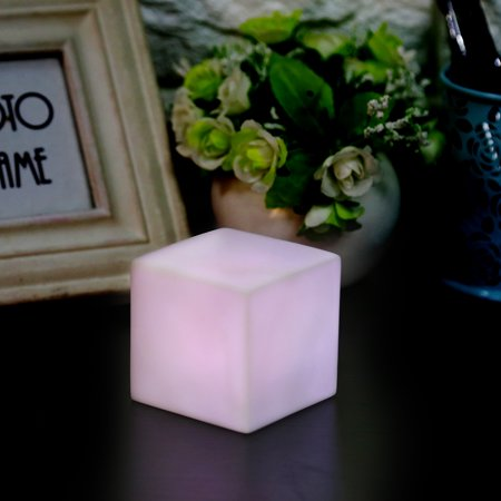 Yosoo LED Color Changing Mood Cube Night Light Table Lamp Gadget Home Party Decoration, Mood Night Light, Color Changing Night Light - Halloween Decorations For Office Cube