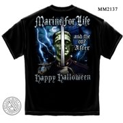 Cotton USMC Halloween Marine T-Shirt