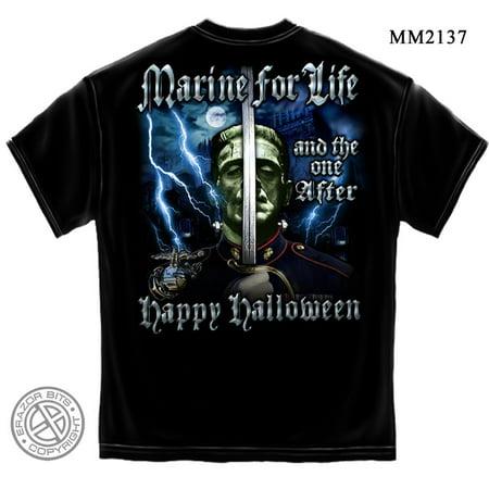 Cotton USMC Halloween Marine T-Shirt](Marnie Halloween)