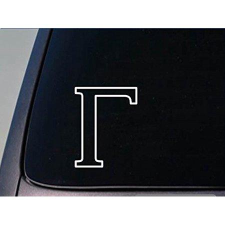Greek letter Gamma sticker *H253* 6 inch tall vinyl fraternity (Gamma Letters)