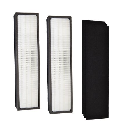 Screen Filter Kit - HQRP Kit: 2pcs Filter C & 4-pack Carbon Filters (Reserve) for GermGuardian AC5300B AC5350W AC5350B AP2800CA AC5000E AC5250 AC5250PT Air Purifiers, FLT5000 Replacement + HQRP Coaster