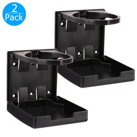 2-pack Universal Adjustable Folding Cup Drink Holder Car TRUCK BOAT VAN Home Plastic 99mm, - Boot Cups