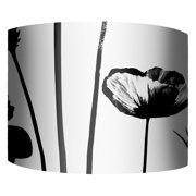 PTM Images Flower Silhouettes II Drum Lamp Shade
