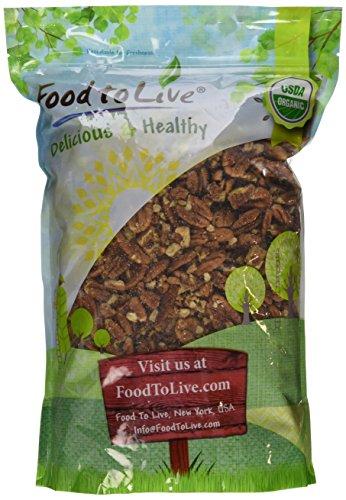 Organic Pecans, 3 Pounds – Kosher, Non-GMO, Organic, Raw, Vegan, No Shell – by Food to Live