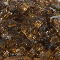"1/2"" Copper Metallic Fireglass - 1 Lbs. Bag"