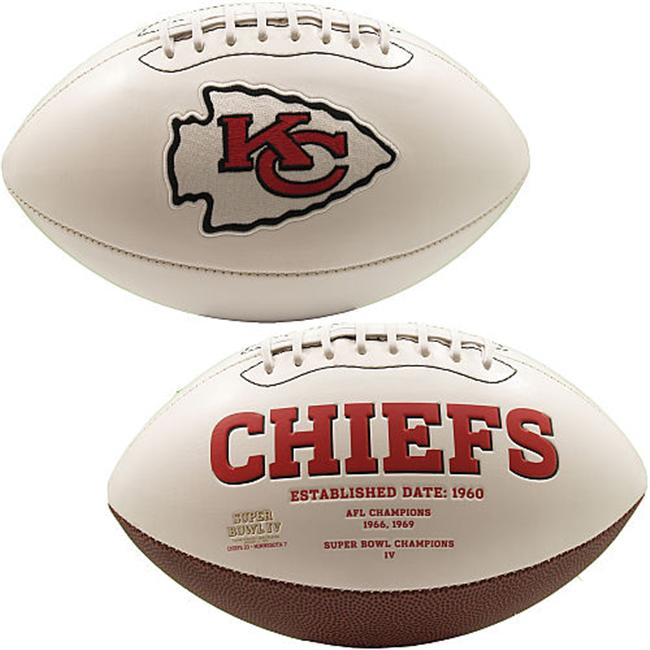 Creative Sports FB-CHIEFS-Signature Kansas City Chiefs Embroidered Logo Signature Series Football