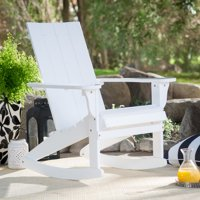 Belham Living Portside Modern Adirondack Rocking Chair - White
