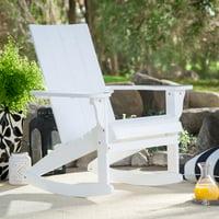 Belham Living Portside Modern Adirondack Rocking Chair - White