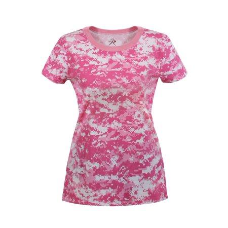 New Pink Camo - Womens Soft Pink Digital Camouflage T-Shirt