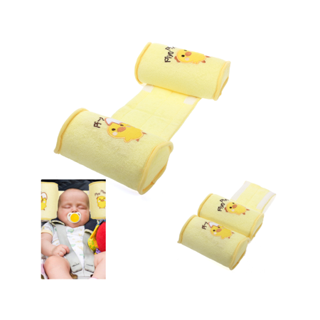 Yellow Baby Infant Toddler Safe Cotton Anti Roll Pillow