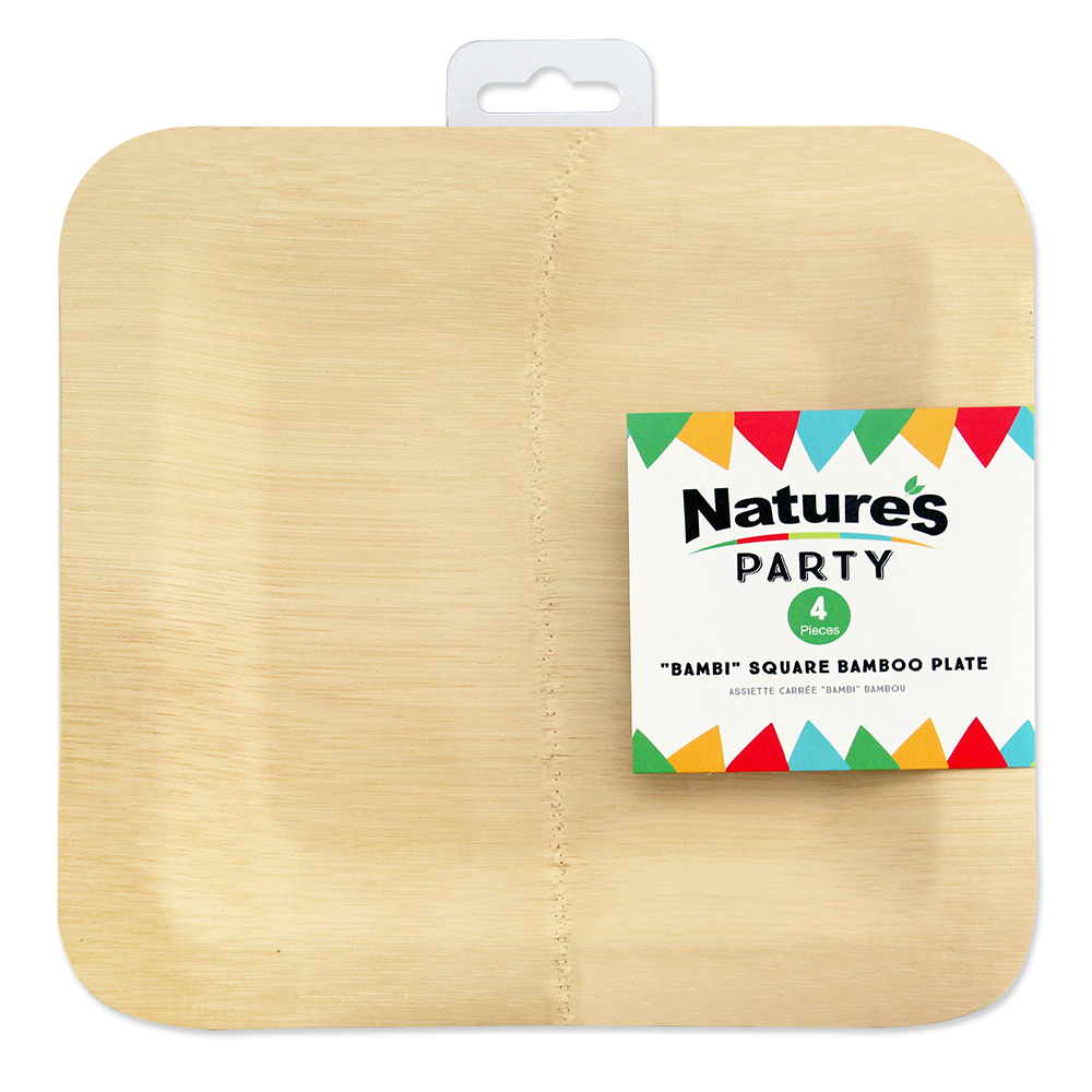 Nature\u0027s Party Bambi Square Bamboo Plates 10\  ...  sc 1 st  Walmart & Nature\u0027s Party Bambi Square Bamboo Plates 10\