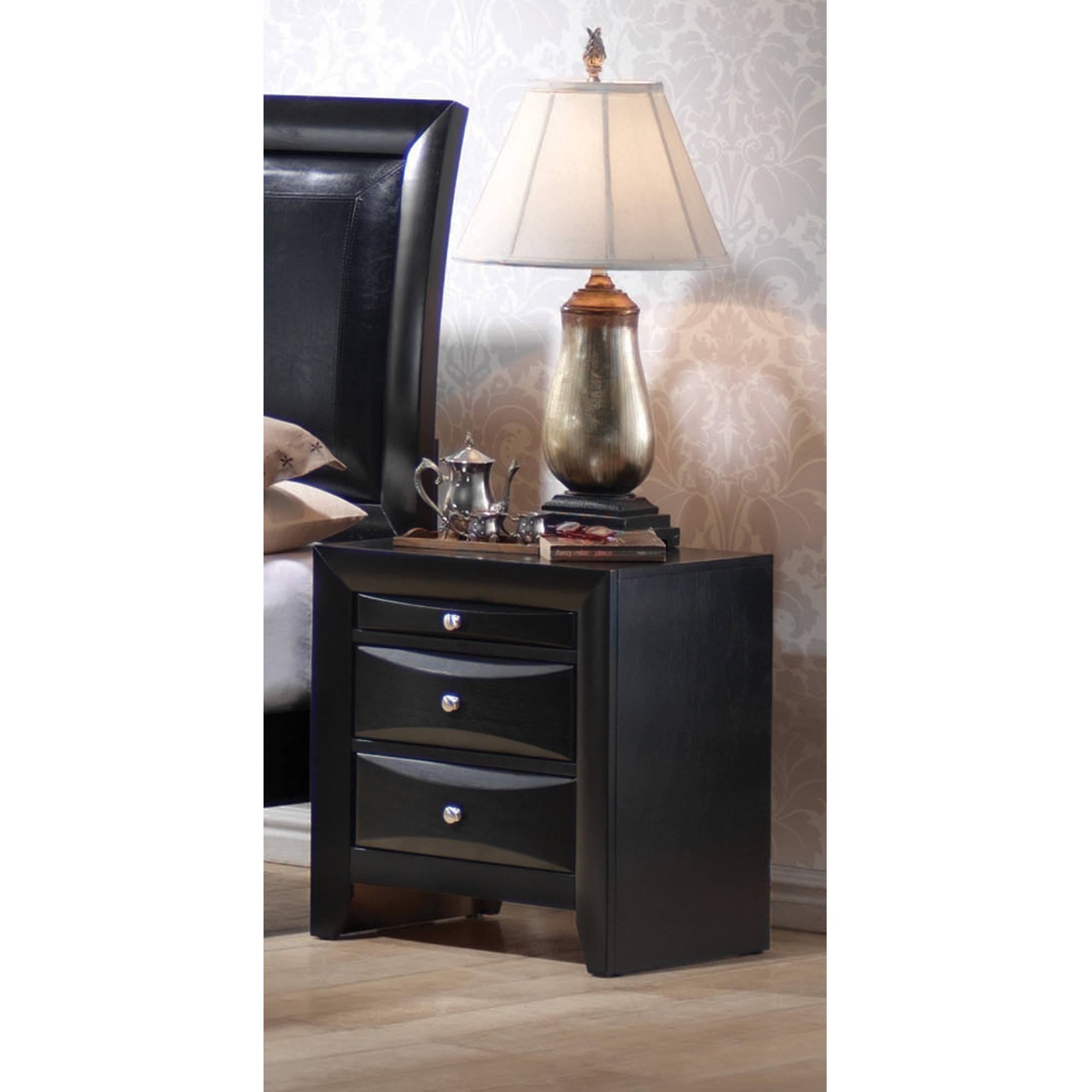 Coaster Company Briana Collection Nightstand, Black by Coaster Company