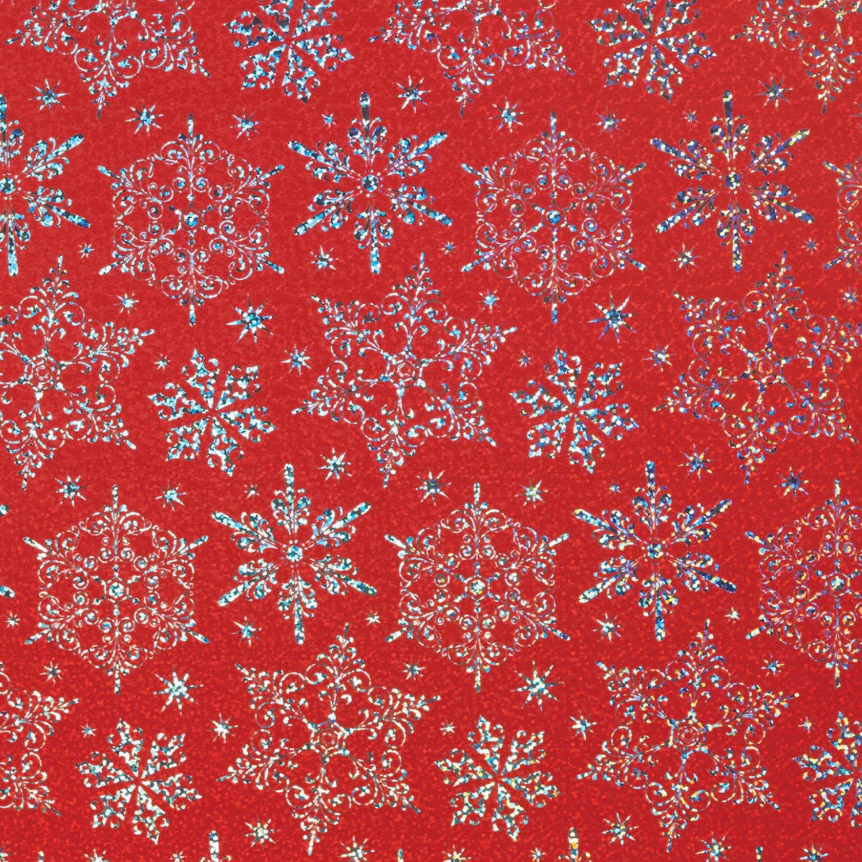 Jillson & Roberts Gift Wrap, Sparkleflake Red (6 Jumbo Rolls 10ft x 30in)