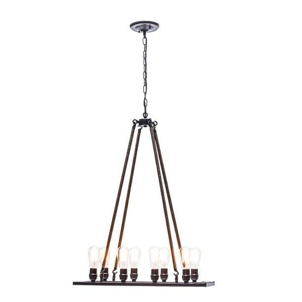 Globe Electric 8-Light Oil Rubbed Bronze Twine Wrapped