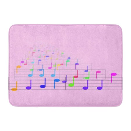 GODPOK Child Bright Colorful Notes Sheet Music Cheerful Musical Concept Cheery Colors Rug Doormat Bath Mat 23.6x15.7 - Bed And Bath Store