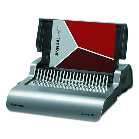 Fellowes Quasar E 500 Electric Comb Binding Machine w/ Starter - Pitch Electric Wire Binding Machine